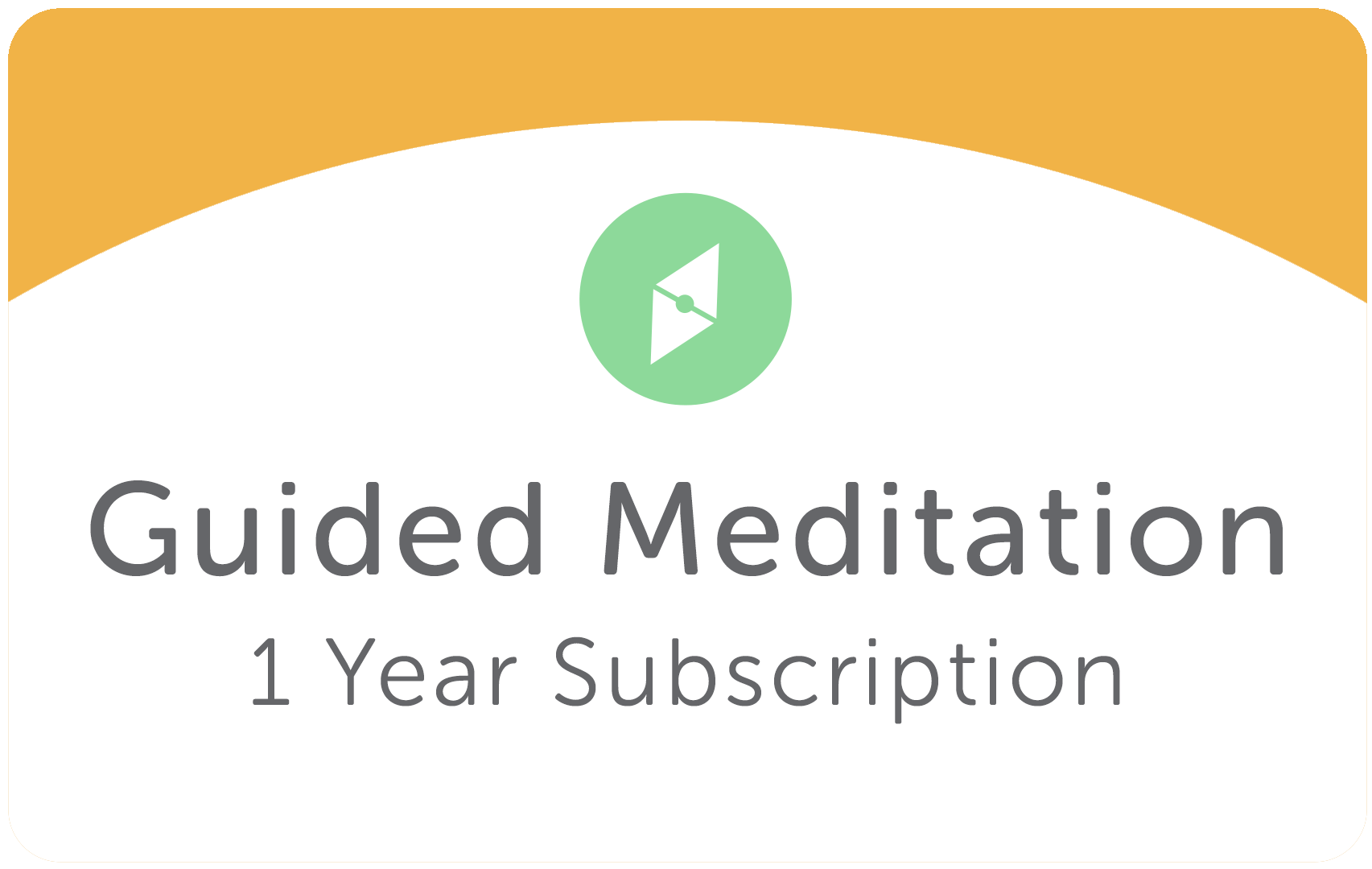 Add a 1 Year Guided Meditation Subscription